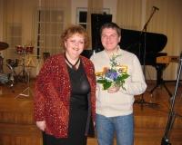 Antti Kammiste koos oma õpetaja Marikaga