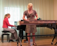 Liis Peedosk (ksülofon) ja Martina Võrk (klaver)