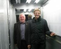 Teet Helm ja Kaimar Siidra lifti katsetamas