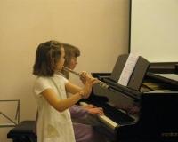 Linda Juhanson (flööt) ja Erene Petrova (klaver)