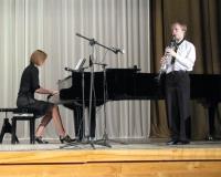 Lars Asi (klarnet) ja Martina Võrk (klaver)