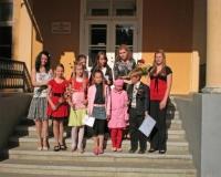 Erene Petrova koos oma õpilastega