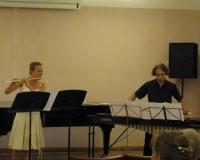 Külalisesinejad Heili Rosin (flööt) ja Heigo Rosin (marimba)