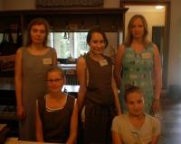Erene Petrova, Ave Ahelik, Salme Ussanov, Veronika Balanova ja Martina Võrk