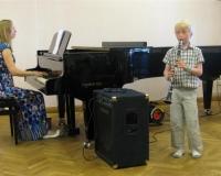 Aksel Vürst (klarnet) ja Martina Võrk (klaver)