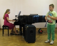 Markus Kriiskütt (klarnet) ja Erene Petrova