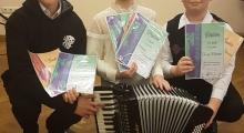 Edukad akordionistid peale vabariiklikku konkursivooru 22.03.2018