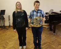 Õpetaja Elli Käbin ja Marten Märks