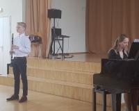 Aksel Vürst ja kontsertmeister Ieva Kostanda