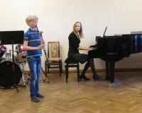 Aksel Vürst (Klarnet) ja õp. Martina Võrk (klaver)