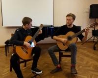 Mats Truja ja õpetaja Arno Tamm