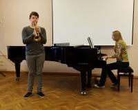 Angelo Raoul Lombardo (trompet) ja õpetaja Martina Võrk (klaver)