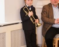 Alfred Vürst (trompet) ja tema õpetaja Priit Sonn.