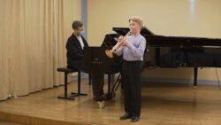 Alfred Vürst (trompet) koos kontsertmeister Jaan Kapiga.